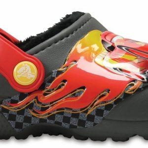 Crocs Clog para chicos Slate Grey Crocs Fun Lab Fuzz Lined Cars
