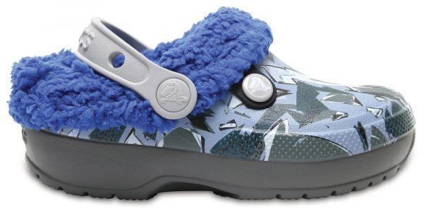 Crocs Clog Unisex Slate Grey/Blue Jean Classic Blitzen III Graphic
