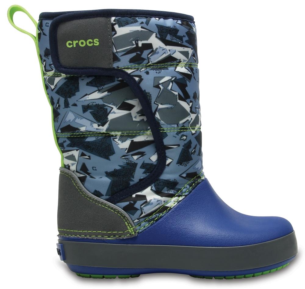 Crocs Boot Unisex Slate Grey/Blue Jean LodgePoint Graphic Snow