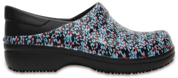 Crocs Clog Mujer Negros / Ice Blue Neria Pro Graphic