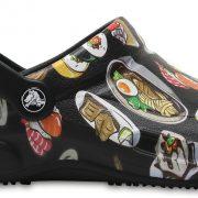 Crocs Clog Unisex Negros/ Tumbleweed Bistro Graphic s
