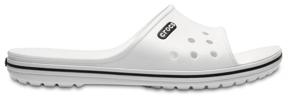 Crocs Slide Unisex Blancos / Negros Crocband II