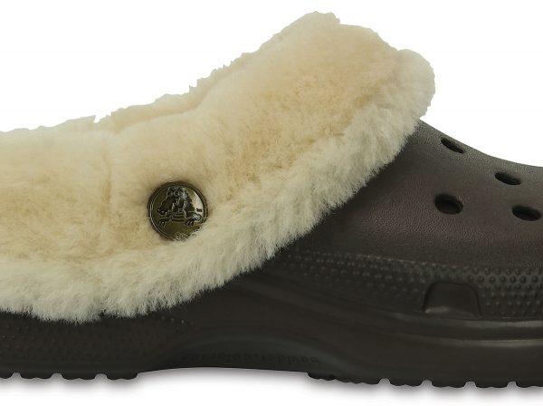 Crocs Clog Unisex Espresso Classic Mammoth Luxe Shearling Lined
