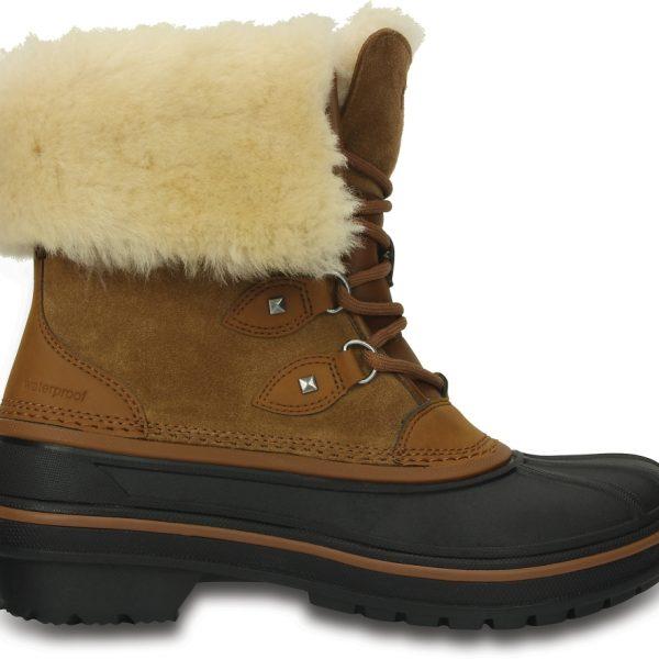 Crocs Boot Mujer Wheat AllCast II Luxe Shearling