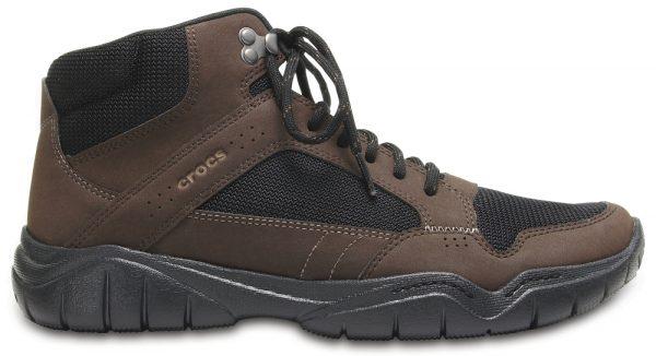 Crocs Boot Hombre Espresso / Negros Swiftwater Hiker Mid
