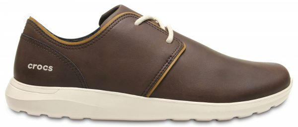 Crocs Shoe Hombre Espresso / Stucco Crocs Kinsale Leather Lace-Up