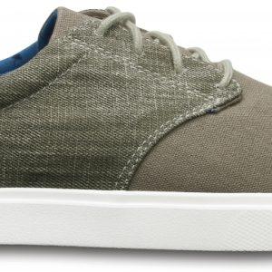 Crocs Sneaker Hombre Khaki / Blancos CitiLane Canvas Lace