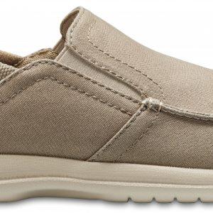 Crocs Shoe Hombre Khaki / Cobblestone Santa Cruz Convertible Slip-Ons