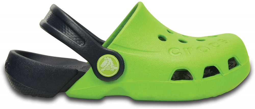 Crocs Clog Unisex Volt Verdes / Azul Navy Electro