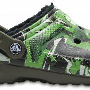 Crocs Clog Unisex Dark Camo Verdes/Negros Classic Fuzz Lined Graphic
