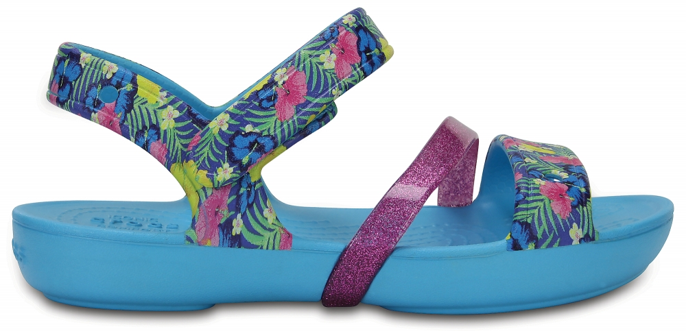 Crocs Sandal para chica Electric Blue Crocs Lina s