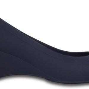 Crocs Wedge Mujer Azul Navy Crocs Lina