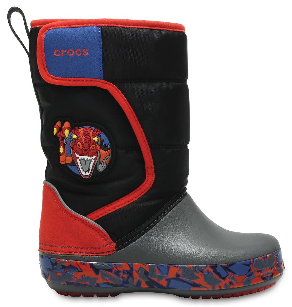 Crocs Boot para chicos Robosaur Rex Crocs LodgePoint Lights Robosaur Rex