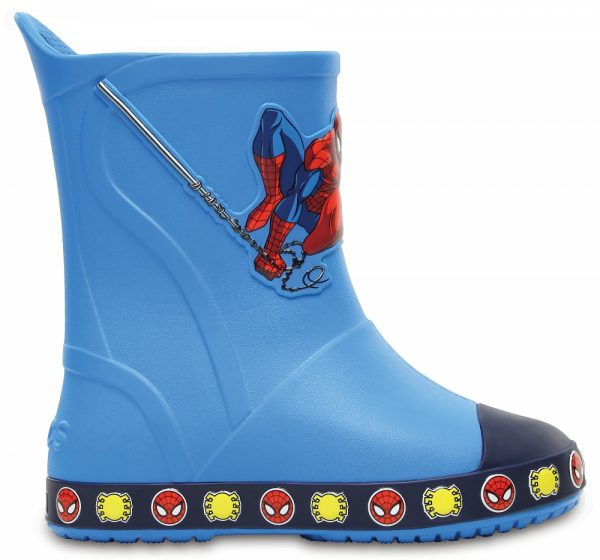Crocs Boot para chicos Ocean Crocs Bump It Spiderman Rain