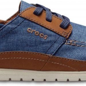 Crocs Shoe Hombre Azul Navy / Cobblestone Santa Cruz Playa Lace-Ups