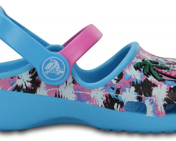 Crocs Clog para chica Electric Blue / Party Rosa Crocs Karin Novelty s