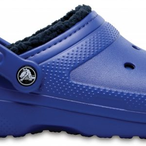 Crocs Clog Unisex Blue Jean/Azul Navy Classic Fuzz Lined