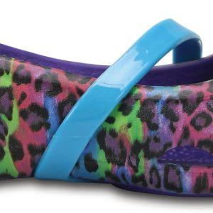Crocs Flat para chica Ultraviolet Crocs Lina Graphic s