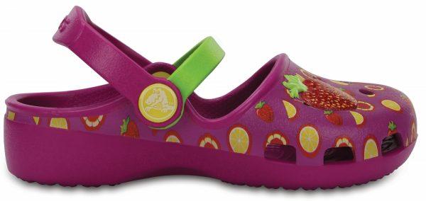 Crocs Clog para chica Vibrant Violet / Tangerine Crocs Karin Novelty s