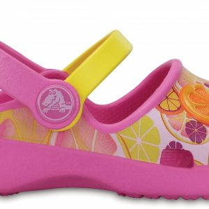 Crocs Clog para chica Party Rosa / Limon Crocs Karin Novelty s