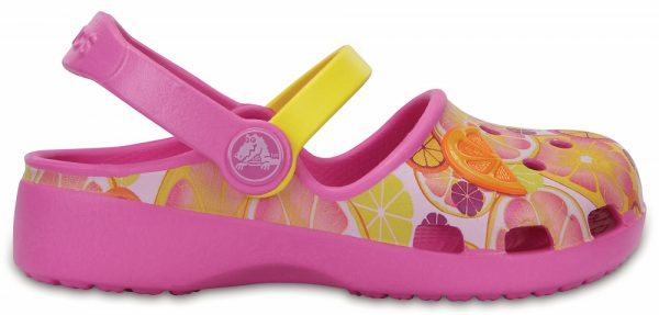 Crocs Clog para chica Party Rosa / Limon Crocs Karin Novelty s