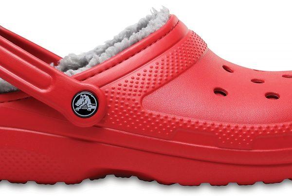 Crocs Clog Unisex Pepper / Silver Classic Fuzz Lined