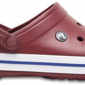 Crocs Clog Unisex Garnet/Blancos Crocband