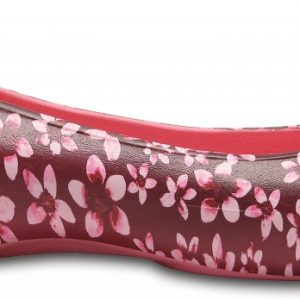 Crocs Flat Mujer Garnet/Floral Crocs Laura Graphic s