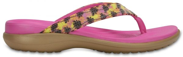 Crocs Flip Mujer Gold Capri V Graphic Sequin