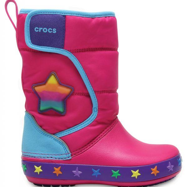 Crocs Boot para chica Multi Stars CrocsLights LodgePoint Star