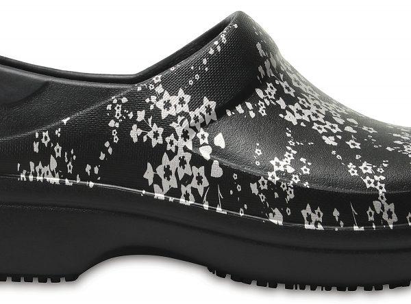 Crocs Clog Mujer Negros / Silver Metallic Neria Pro Graphic