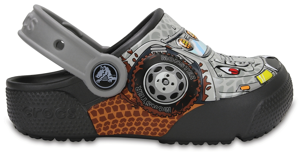 Crocs Clog Unisex Monster Truck / Graphite Crocs Fun Lab Lights s