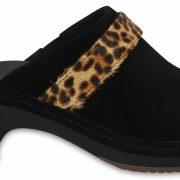 Crocs Clog Mujer Leopard / Negros Crocs Sarah Suede