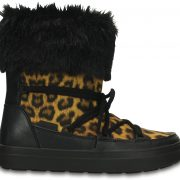 Crocs Boot Mujer Leopard / Negros LodgePoint Lace