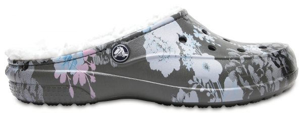 Crocs Clog Mujer Floral/Slate Grey Crocs Freesail Graphic Fuzz Lined
