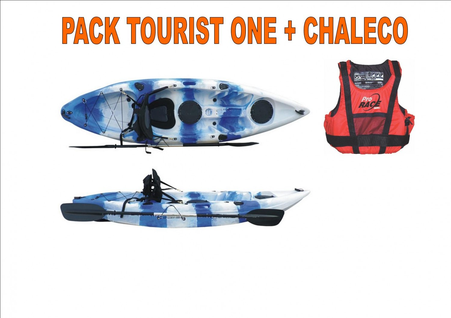 Kayak TOURIST ONE + Pack Con chaleco