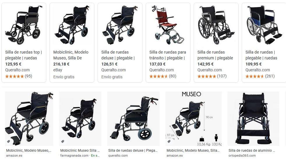 silla de ruedas museo mobiclinic precios