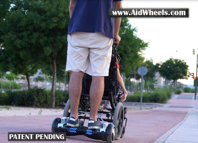 adaptar patinete a silla de ruedas