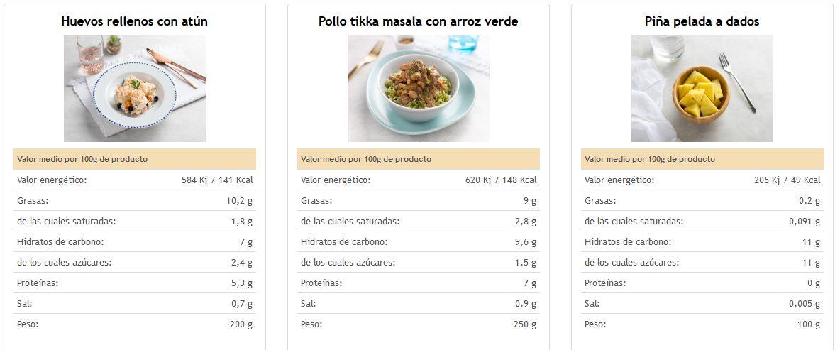 menu online para el trabajo ya preparado