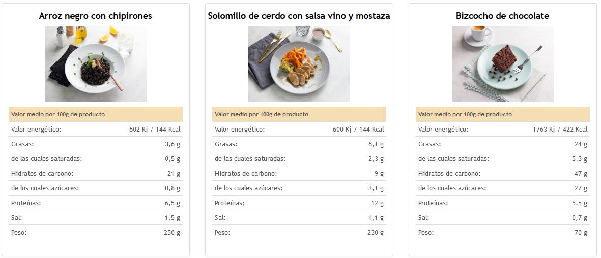 pedir comida online menus semanales oficina