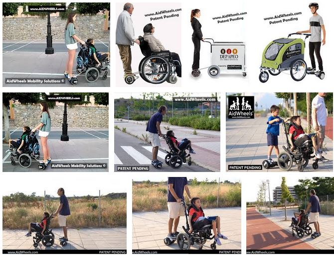como adaptar hoverboard a sillas de ruedas
