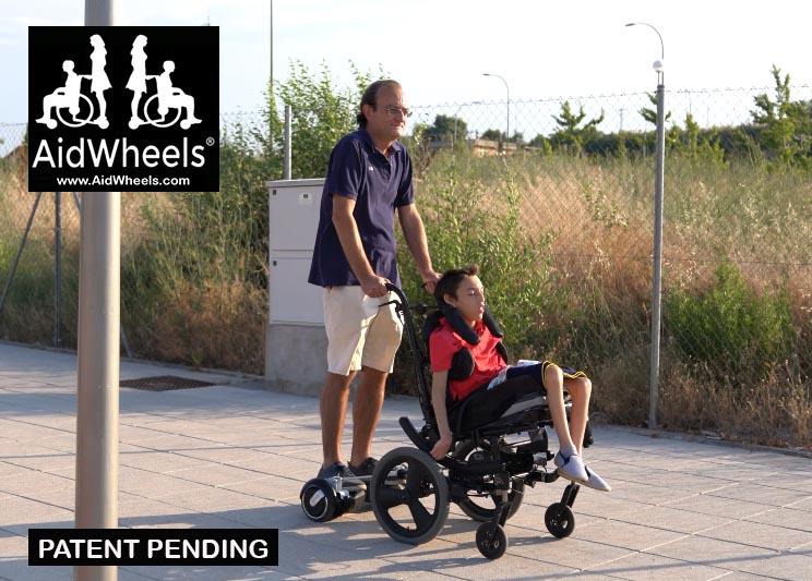 hoverboard con silla de ruedas