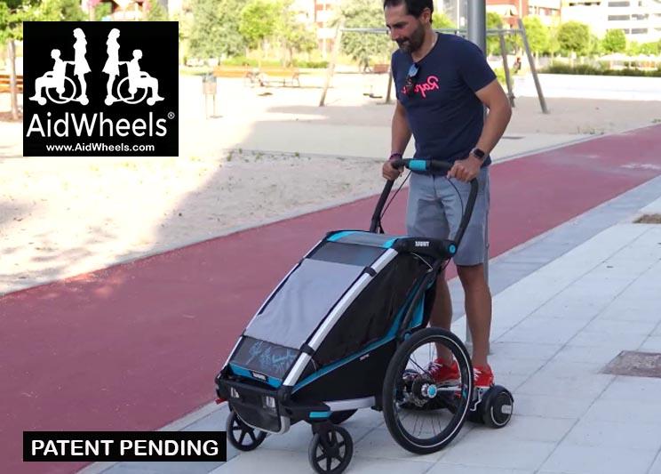 hoverboard trailer bicicletas thule aidwheels