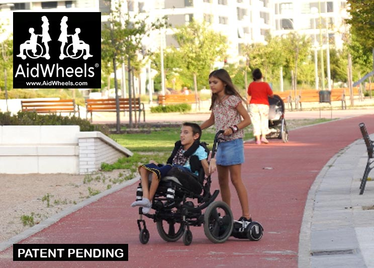 wheelchair hoverboard couple