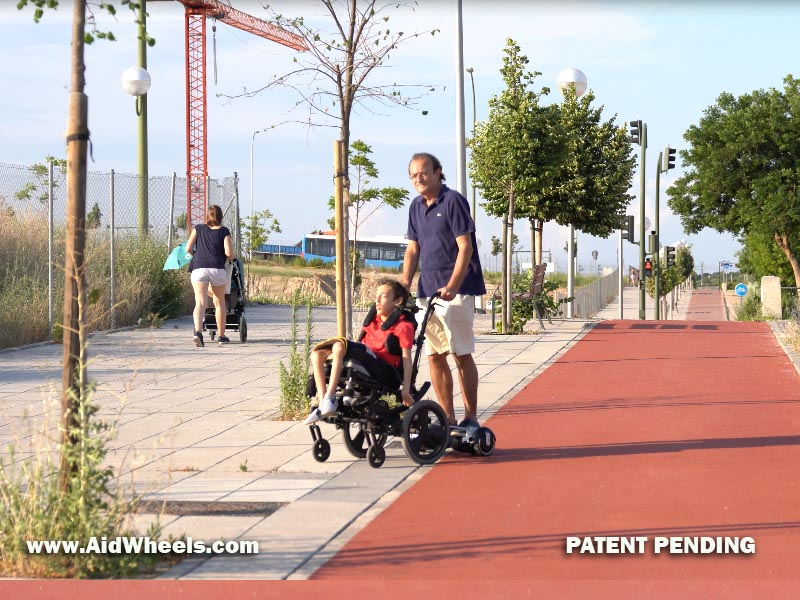 patiente electrico con silla de ruedas