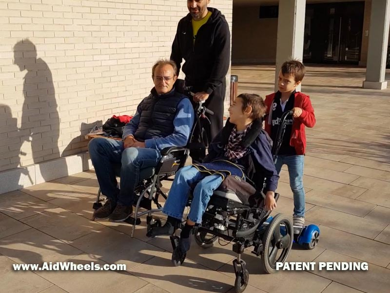 hoverboard wheelchair adapter aidwheels