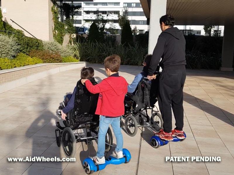 sillas de ruedas electricas con hoverboard