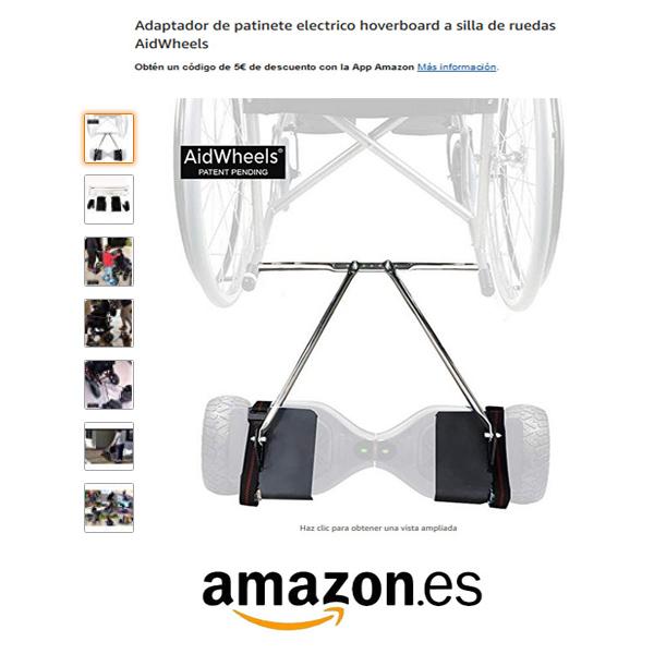 adaptador hoverboard silla de ruedas