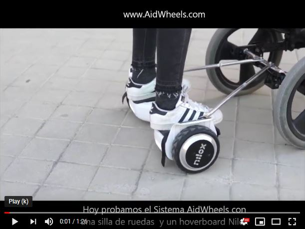 Wheelchair with a hoverboard