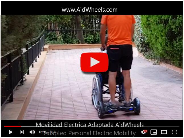 Adaptador eléctrico para pasear sillas de ruedas manuales